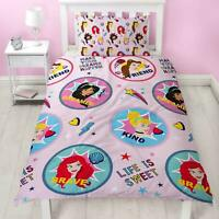 Girls Disney Princess Childrens Bedding Set Duvet Cover Pillowcase Single Bed