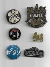 The Police (Sting) - Rare collection of vintage pin badges and charms