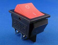Einbau Wippschalter 2 polig (4pin) 16A 250VAC 28.5*21.5mm rotewippe unbeleuchtet