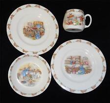 Vintage Royal Doulton 'Bunnykins Porcelain Children'S 2 Plates, Bowl Cup England