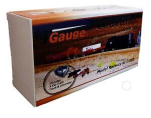 T Gauge EMD Black GP8 US Freight Train Set R-042/EMD-B