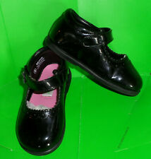 VGUC Darling Baby Shoes Sweeter Lily Black Faux Patent Mary Jane S 8T