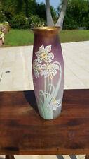 Très Grand Vase émaillé de fleurs  Art Nouveau LEGRAS