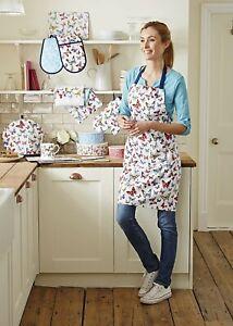Kitchen Cooking Textile Aprons Double Oven gloves Tea Towels Tea Cosy Baking Set