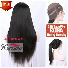 360 Frontal Wig Pre Plucked Indian Remy Straight Human Hair Wigs For Black Women