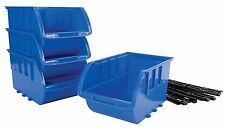 Large Storage Bins Set 4 Containers Tote Storage Boxes Containers Plastic