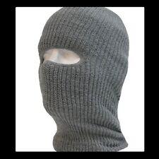 Acrylic Tactical One Hole Face Mask Military Ski Mask Gray USA Made