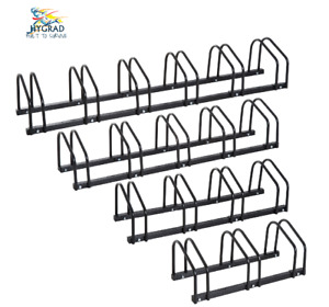 2/3/4/5/6 Stainless Steel Bike Bicycle Floor Standing Rack Stand Holder In Black