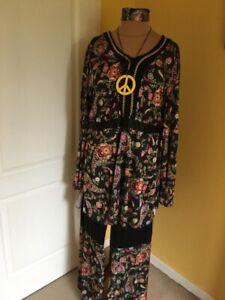 XXL Hippy Outfit Fancy Dress