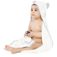100% organic bamboo baby hooded towel & washcloth set