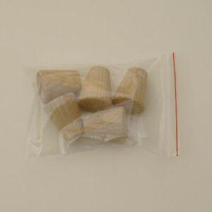25mm Solid Oak Minimalistic Cone Knob / Cabinet Door / Furniture K97 + screws