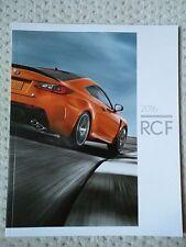 NEW Lexus 2016 RCF sales brochure catalog