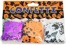HALLOWEEN PARTY TABLE CONFETTI BATS PUMPKINS GHOSTS SET OF 3 SCARY SPOOKY DECOR