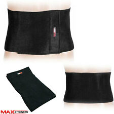 Fat Burner Sauna Slimming Belt Body Shaper Wrap Tummy Burn Weight Loss Cellulite Black