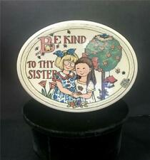 Mary Engelbreit Ceramic Plaque Be Kind To Thy Sister 1994 Retired Vintage