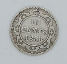 1888 Newfoundland 10 cent coin G-VG condition