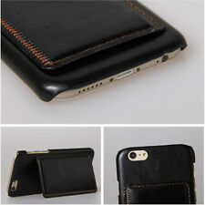 Luxury Leather Card Wallet Stand Back Skin Case Cover For iPhone 6 6S Free Glass