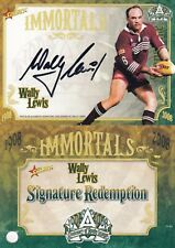 2008 NRL Centenary Of Rugby League Immortal Signature Card IMSC4 Wally Lewis 092