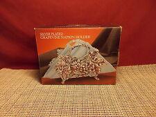 Godinger Silverplate Grapevine Design Napkin Holder NIB
