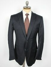 ERMENEGILDO ZEGNA Wool Solid Navy Sport Coat 52L IT 42L US Dual Vent RECENT Mila
