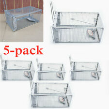 5Pc Animal Mouse Trap Metal Steel Cage for Live Rodent Control Rat Mice Squirrel