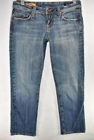Vigoss Studio Prescilla Stretch Capri Crop Blue Tag Size 28 Meas. 29x27.5