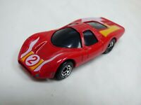 Vintage 1985 Matchbox Super GT BRI 9/20 Red Yellow Stripe Racing Toy Model Car