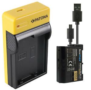 Akku für Nikon EN-EL15b ENEL15 D7500 1 V1 / Z6 Z7 D800 850 D7000 | USB Ladegerät