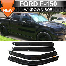 04-08 Ford F-150 Super Crew Cab Smoke Sun Window Visor Rain Guard Vent 4Pcs