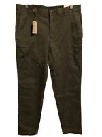BROOKS BROTHERS Men's Olive Green/Taupe RED FLEECE Chino Pants NWT - 33 x 31