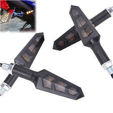 Amber Motorcycle Turn Signals LED Lamp Tail Light Blinker Brake Stop Universal