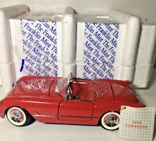 New ListingFranklin Mint Red 1954 Chevrolet Corvette Convertible 1:24 Scale