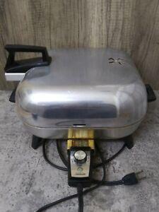 Vintage Aluminum Sunbeam Electric Broiler Cover Frypan Skillet WORKS!!