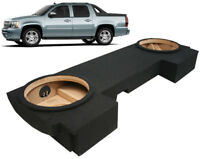 """2002-2013 Chevy Avalanche Custom Fit Dual 12"""" Stereo Subwoofer Enclosure Sub Box"""