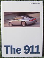 Porsche 911 Auto folleto de ventas de agosto de 1995 Ref-wvk 191 320