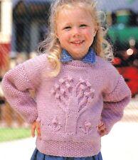 "Aran Knitting Pattern Baby Children  APPLE TREE  Sweater 20"" - 28"""