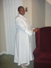 Custom Tailored Ladies, White Clergy Robe, NEW, Sizes 2&UP (E-mail Measurements)