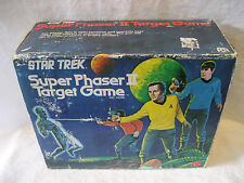 1976 Mego STAR TREK Super Phaser II Target Game w/ original BOX Kirk Spock toy !