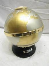 Vintage Art Deco World Globe Earth Transistor Radio Metex AM Map Space Age