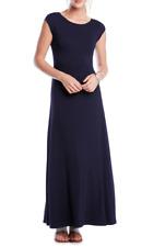 Karen Kane Womens Navy V Back A Line Maxi Dress Sz S 7633
