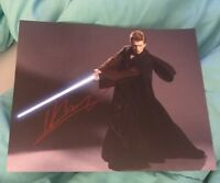 HAYDEN CHRISTENSEN SIGNED 8X10 PHOTO ANAKIN SKYWALKER D W/COA+PROOF RARE WOW