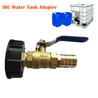 IBC Water Tank Adapter/Fitting/Connector S60X6 Full Flow Barb Oil Fuel 1""