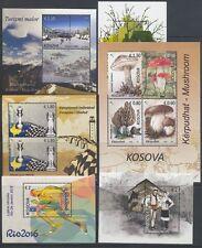 KOSOVO - 2016 ALLE 6 BLOCKS POSTFRISCH ** M/NH - BLOCK 35 36 37 38 39 40