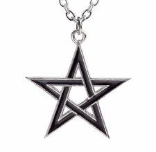 NWT Black Star Protective Pentagram Talisman Pendant Alchemy Gothic P775 Wiccan