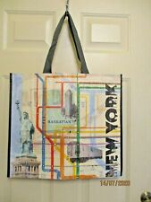 TJ Maxx Shopping Tote Map of New York City Yellow Eco Friendly Reusable NEW
