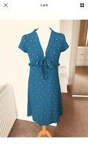 Topshop Turquoise Tea Dress Size 8-10