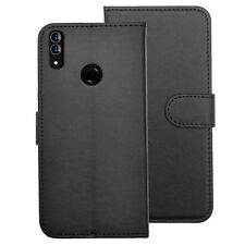 SDTEK PU Leather Wallet Flip Cover Case for Huawei P20 Lite (Black)