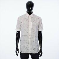 DIOR 990$ White Cotton & Silk Poplin Dress Shirt With DIOR & DANIEL ARSHAM Print
