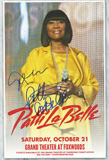 Patti LaBelle autographed gig poster