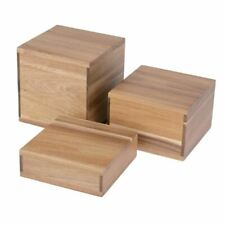 More details for olympia acacia riser blocks durable & sustainably sourced - 3 set h50/100/150mm